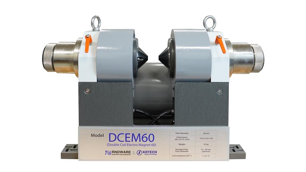 상용화 개발이 완료된전자석 기반 물성측정장비제품 중     DCEM60 모델